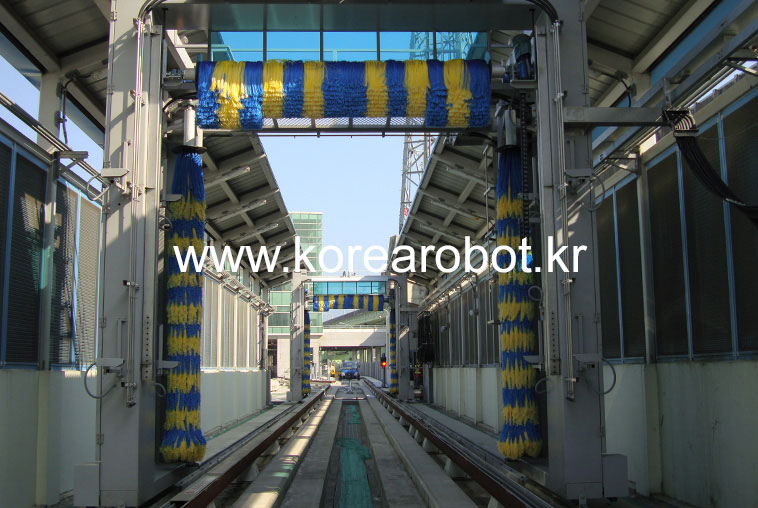 Railway car wash